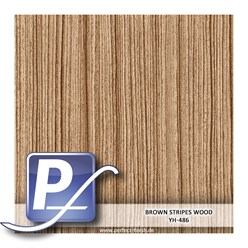 Wassertransferdruck Film YH-486 | 100cm BROWN STRIPES WOOD