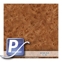 Wassertransferdruck Film YH-493 | 100cm BROWN BURL