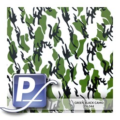 Wassertransferdruck Film YH-544 | 60cm GREEN BLACK CAMO