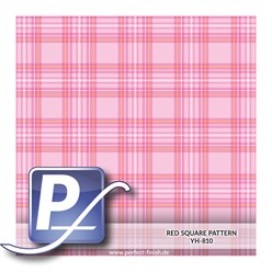Wassertransferdruck Film YH-810 | 60cm RED SQUARE PATTERN