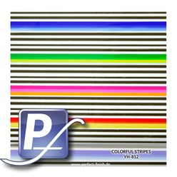 Water transfer printing film YH-812 | 60cm Stripes Colorful