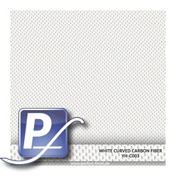 Wassertransferdruck Film YH-C003 | 100cm WHITE CURVED CARBON FIBER
