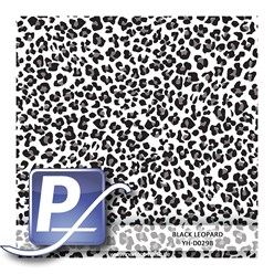 Water Transfer Printing film YH-D029B | 60cm BLACK LEOPARD
