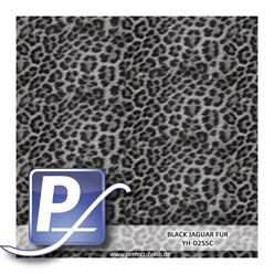 Wassertransferdruck Film YH-D255C | 100cm BLACK JAGUAR FUR