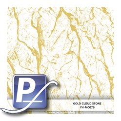 Water transfer printing film YH-M007B | 100cm GOLD CLOUD STONE