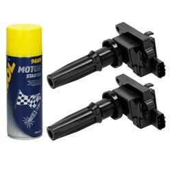 2 x Zündspule Hyundai Kia + Motor Starter Spray