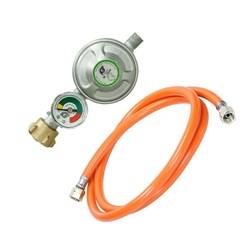Gasdruckminderer mit Manometer inkl. Gasdruckschlauch 100 cm