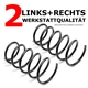 2 x Fahrwerksfeder hinten Opel