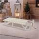Weihnachtsdeko Schlitten 73 cm weiß aus Holz mit LED