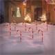 Zuckerstangen Gartenstecker 8er Set 45x700 cm mit 40LED warmweiß aus Kunststoff