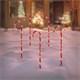 Zuckerstangen Gartenstecker 5er Set 73x400 cm mit 56LED warmweiß aus Kunststoff