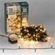 Weihnachtsbaumschmuck LED Lichterkette für Weihnachten 12m warmweiß mit 120 LEDs