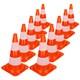 10 Stücke Verkehrskegel Pylon, 50 cm, orange-weiß