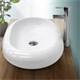 Waschbecken 630 x 420 x 120 mm Keramik Weiß