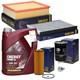 Inspektionspaket Filterpaket Skoda VW mit MANNOL Combi LL 5W-30 Öl