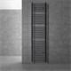 Badheizkörper Sahara anthrazit, 400x1800 mm, gerade, mit Seitenanschluss