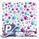 Wassertransferdruck Film WTP-840 | 100cm PAW PRINTS-PURPLE