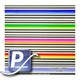 Wassertransferdruck Film YH-812 | 60cm COLORFUL STRIPES