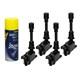 4 x Zündspule Mazda + Motor Starter Spray