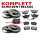 Bremsscheiben + Bremsbeläge V+ H Inkl. WK
