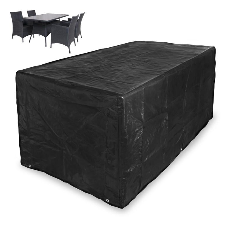 abdeckung gartentisch und st hle schwarz ecd germany. Black Bedroom Furniture Sets. Home Design Ideas