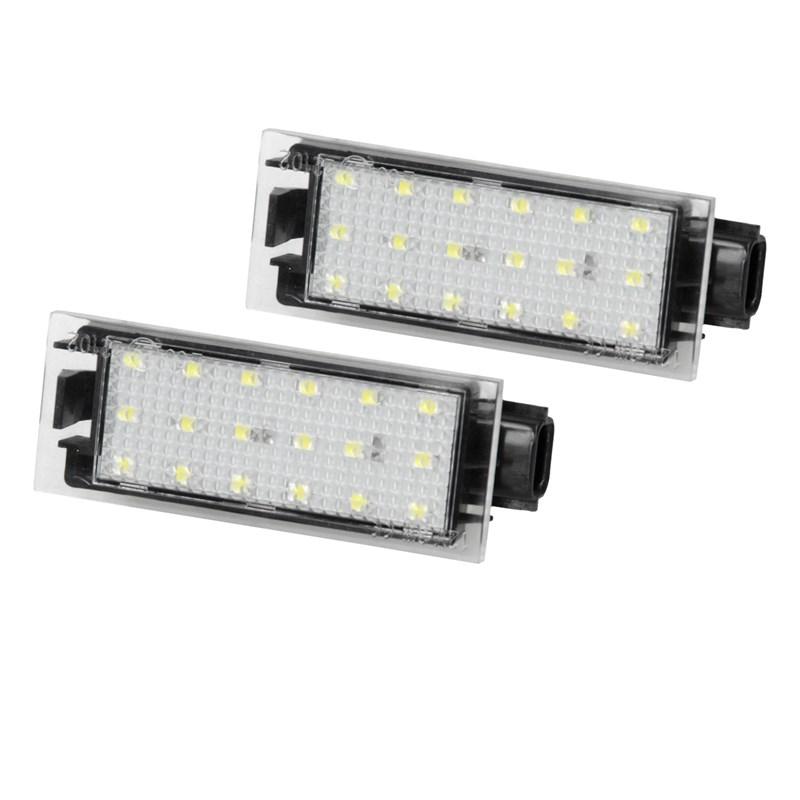 2x LED Kennzeichenbeleuchtung Renault Kangoo KW0 FW0 Laguna 2 3 Coupe