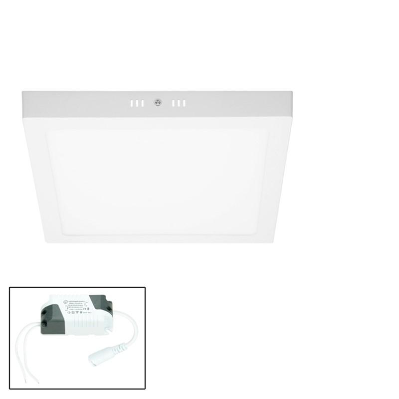 led aufputzlampe eckig 18w neutralwei. Black Bedroom Furniture Sets. Home Design Ideas