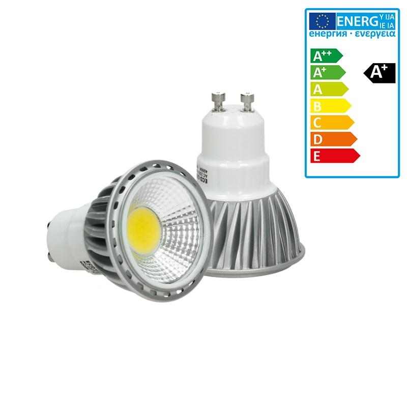 led reflektor spot gu10 6 watt ausf cob warmwei. Black Bedroom Furniture Sets. Home Design Ideas