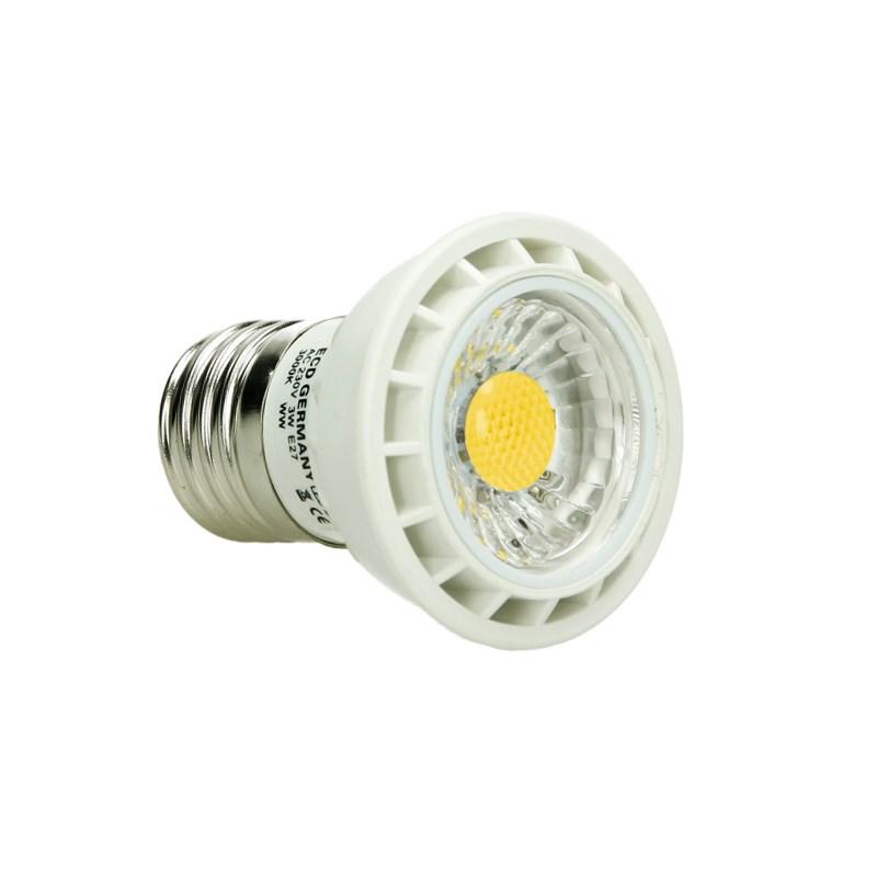 led reflektor spot e27 3 watt ausf cob warmwei. Black Bedroom Furniture Sets. Home Design Ideas