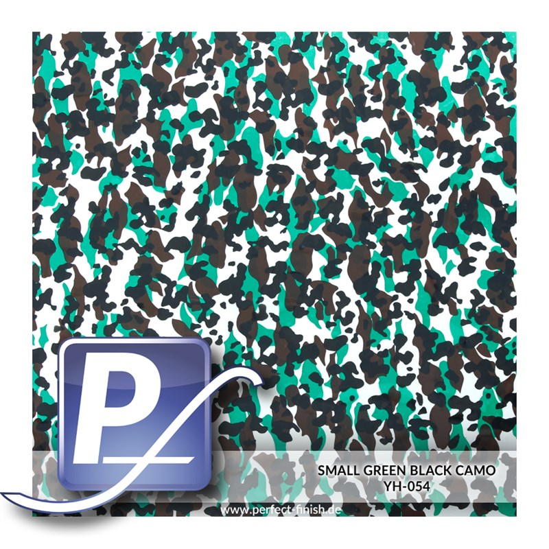 Water transfer printing film YH-054 | 50cm SMALL GREEN BLACK CAMO