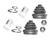 2 x Faltenbalgsatz Atriebswelle vorne Citroen