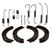 Bremsbacken + Zubehörsatz Mercedes W168