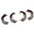 Bremsbacken + Radbremszylinder HA  links + rechts