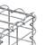 Gabionen 100x40x20 cm, aus galvanisch verzinktem Stahldraht