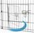 Freilaufgehege aus 8 Gittern für Kleintiere, 124x61 cm, aus Metall pulverbeschichtet