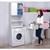 Waschmaschinenschrank weiß