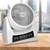 Ventilator 40W 3 Stufen Digitaldisplay Weiß