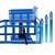 Auffahrrampe mit hydraulischem Wagenheber 2t recht