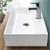 Waschbecken 600 x 360 x 130 mm Keramik Weiß