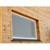 Fliegengitter Braun, 80x100 cm, mit Rahmen aus Aluminium