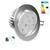 LED Einbaustrahler 9W 230V Kaltweiß 6000K Rund dimmbar IP44