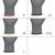 1 Paar Arbeitshandschuhe mit PU-Beschichtung, Grau, Größe L