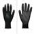 1 Paar Arbeitshandschuhe mit PU-Beschichtung, Schwarz, Größe L