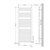 Badheizkörper Sahara 600x1500 mm anthrazit mit Seitenanschluss