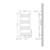 Badheizkörper Sahara 400 x 800 mm Anthrazit gebogen + Mittelanschluss