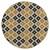 Sitzhocker gold/schwarz 38x37 cm aus Stoffbezug mit Holzbeine WOMO-DESIGN