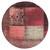 Sitzhocker rot 38x36 cm aus Stoffbezug mit Holzbeine WOMO-DESIGN