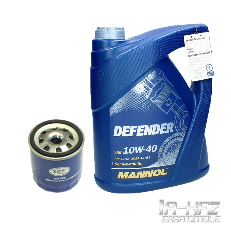 5 liter mannol 10w 40 defender motor l lfilter vw golf. Black Bedroom Furniture Sets. Home Design Ideas