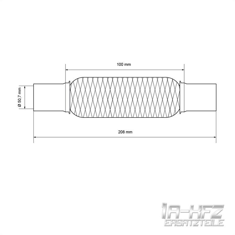 Pinze Giunto Universale 50 x 100 Scarico Flex Pipe ECD Germany 50x100 mm Tubo Flessibile