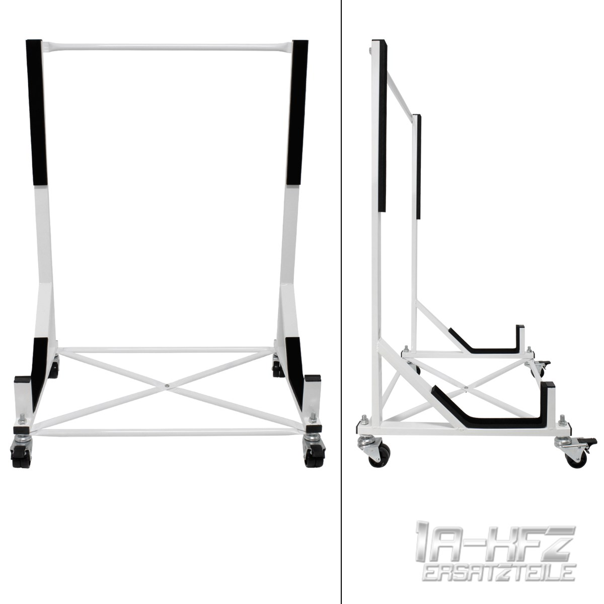 White Hardtop Stand Storage Cover 4 Wheels Triumph